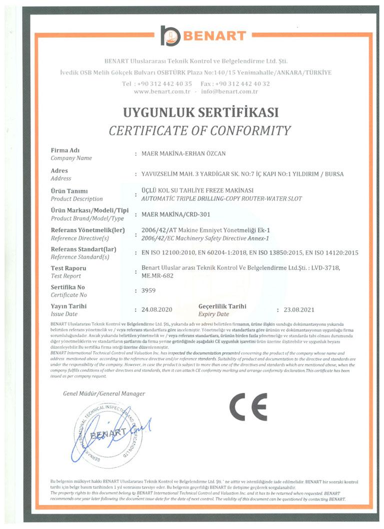 maer-makina-CE-belgesi-CRD-301
